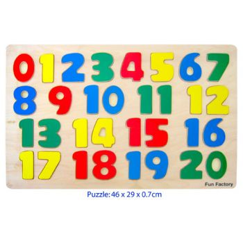 Fun Factory Wooden Puzzle Raised - Numbers
